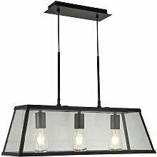 Lampe à suspension en verre noir salon éclairage