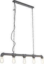 Lampe à suspension industrielle anthracite -