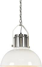 Lampe à suspension industrielle blanc -