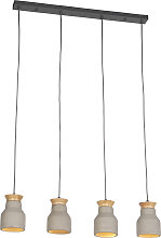 Lampe à suspension industrielle en béton -