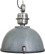 Lampe à suspension industrielle gris béton avec