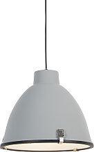 Lampe à suspension industrielle grise 38 cm