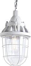 Lampe à suspension industrielle grise - Cabine