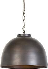 Lampe à suspension industrielle marron 45,5 cm -