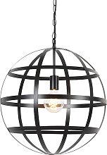Lampe à suspension industrielle noire - Boula