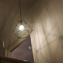 Lampe à suspension industrielle noire - Framework