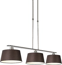 Lampe à suspension moderne en acier brun avec