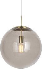Lampe à suspension moderne en laiton avec verre