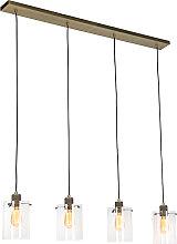 Lampe à suspension scandinave bronze à 4