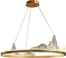 Lampe à Suspension Table à Manger Doré Anneau