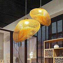 Lampe À Suspension Tissée À La Main De Style
