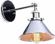 Lampe à tête unique réglable poignée en fer