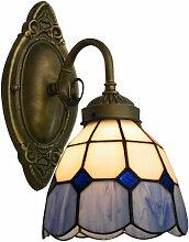 Lampe Applique Murale Abat-jour en Verre Style