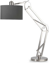 Lampe articulée abat-jour tissu gris