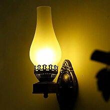 Lampe au kérosène - Abat-jour rétro vintage