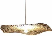 Lampe Bambou Suspendu Lustre Rétro Lampes