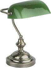 Lampe Banquier finition métal - marque Faro
