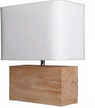 Lampe bois chêne - fabriquée en France