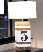 Lampe bois L34 blanche