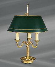 Lampe Bouillotte bronze/décor vieil or 3 lampes