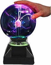 Lampe Boule Plasma Ball Flash en verre enkman