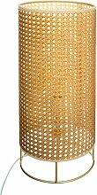 Lampe cannage Amel naturel H52 - Beige