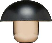 Lampe champignon en acier cuivré et noir