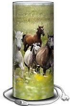 Lampe cheval PVC imprimé
