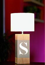 Lampe chevet en bois L34 - personnalisable