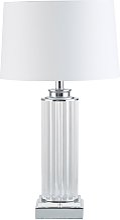 Lampe colonne abat-jour blanc