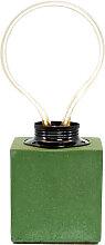 Lampe cube néon en béton vert fabrication