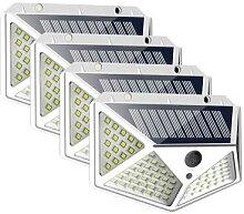 Lampe d'extérieur LED solaire avec capteur de