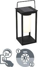 Lampe d'extérieur moderne noire avec LED et