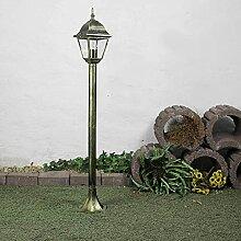 Lampe d'extérieur simple en or antique IP44