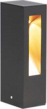 Lampe d'extérieur sur pied moderne noire 25cm
