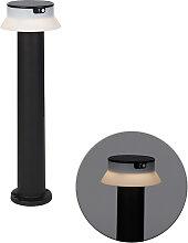 Lampe d'extérieur sur pied noire avec LED et
