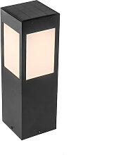 Lampe d'extérieur sur pied noire IP65 avec