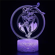 Lampe d'illusion 3D Led Lumière Skate F Lampe