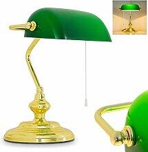 Lampe de banquier classique - Rétro - En métal -
