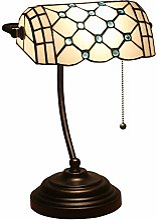 Lampe de Banquier Tiffany Style Lampe de Table