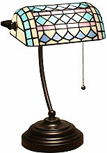 Lampe de Banquier Tiffany Style Lampe de Table,