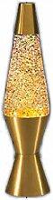 Lampe de base dorée avec cire à paillettes