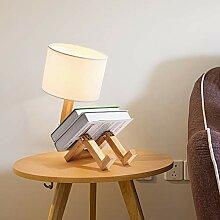 Lampe de bureau à LED en bois - Lampe de table