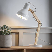 Lampe de bureau articulée blanche