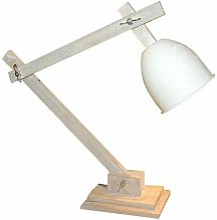 Lampe de bureau articulée Dialogue métal bois
