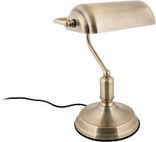 Lampe de bureau banquier doré
