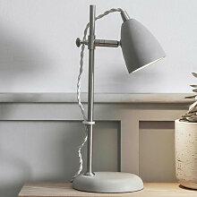 Lampe de bureau béton lisse