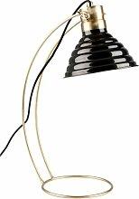 Lampe de bureau Curly noire