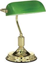 Lampe de bureau en métal vert