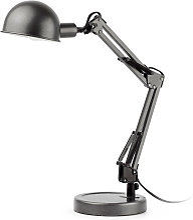 Lampe de bureau grise articulée